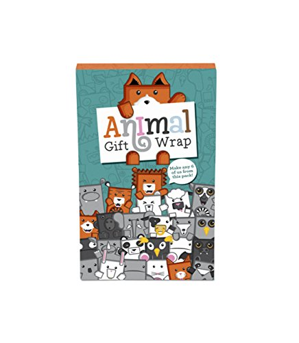Animal Gift Wrap, Super Cute Animal Themed Gift Wrap Pack Set - Luckies of (Themed Pack)