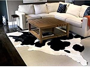 black and white cowhide rug cow hide skin leather area rug xl