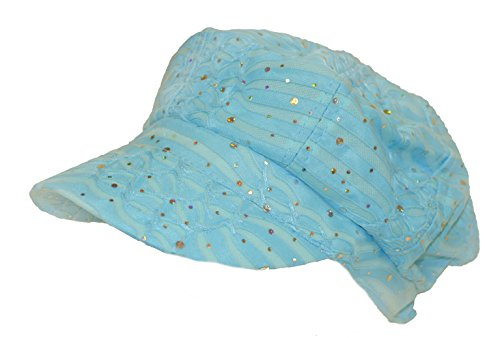 Light Blue Sparkle Newsboy Cap (Sparkle Newsboy Cap)