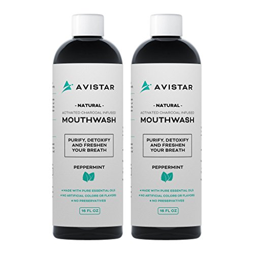 Natural Activated Charcoal Mouthwash: Purify, Detoxify & Freshen Your Breath! - Peppermint Flavor (Made In The USA) (2 (Peppermint Whitening Mouthwash)