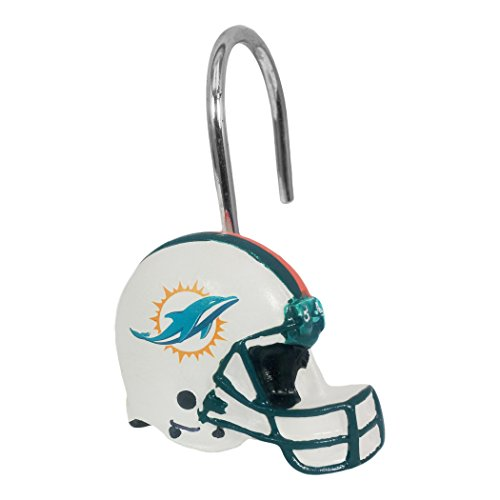 The Northwest Company Miami Dolphins Shower Curtain Rings