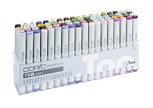 Copic Marker 72-Piece Sketch Set, E (S72-E)