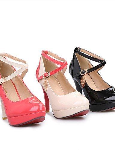 Bureau Robe Verni Casual Femme Aiguille Beige Noir Carrière Talons Shangyi Cuir En Et Beige Talons Talon Plateforme Chaussures w16v0dqOv