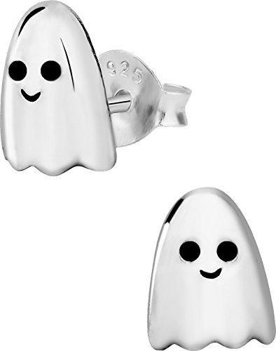 Hypoallergenic Sterling Silver Little Ghost Stud Earrings for Kids (Nickel Free)