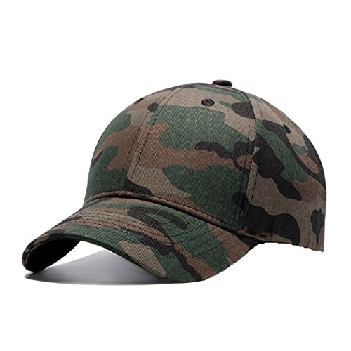 Unisex Camouflage Cotton Baseball Cap,Classic Blank Adjustable Strapback Men Hat,6 Panel Polo Style. (Polo Snapback Hats)