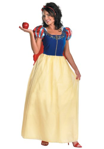 Disney Disguise Women's Snow White Deluxe Costume, Yellow/Red/Blue,