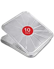 """Disposable Foil Oven Liners (10 Pack) Oven Liners for Bottom of Electric Oven and Gas Oven - Reusable Oven Drip Pan Tray for Cooking and Baking - 18.5"""" x15.5"""""""