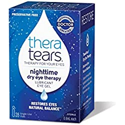 TheraTears Nighttime Dry Eye Therapy- Lubricant Eye Gel- Preservative Free- 28 CT
