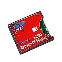 Saver Extreme Single SD MMC SDHC SDXC Slot To CF Type I Compact Flash Memory CF Card Adapter