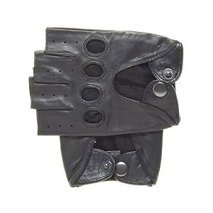 Pratt and Hart Men's Shorty Leather Driving Gloves (Fingerless)