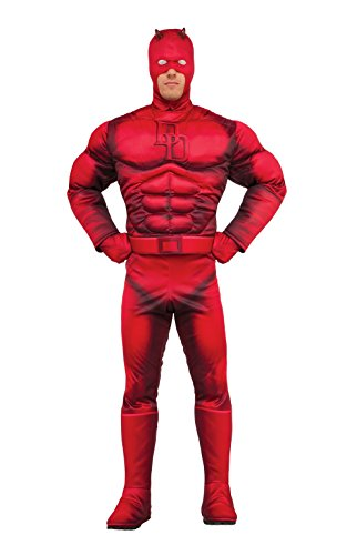 Rubie's Costume Co Men's Marvel Daredevil Deluxe, Multi, One Size - Daredevil Costumes