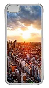 Japan tokyo cityscapes Polycarbonate Hard Case Cover for iPhone 5C - Transparent