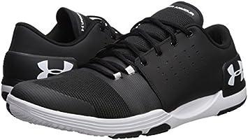 b95ef40e5 Under Armour Men's Limitless 3 Sneaker, Black (001)/White, 7: Amazon ...