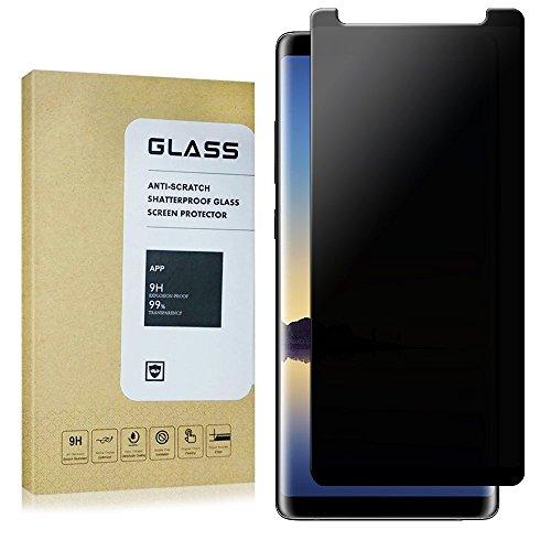 for Galaxy Note 8 Privacy Anti-Spy Tempered Glass Screen Protector,mazdoma[Full Coverage][Anti-Scratch][Anti-Fingerprint][Anti-Bubble] Tempered Glass Screen Protector for Samsung Galaxy Note8(Black)