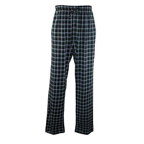 Hanes Men's Cotton ComfortSoft Printed Knit Pants, Medium, Midnight - Mens Classic Knit Pant