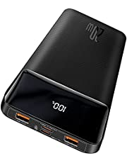 Baseus 10000mAh Power Bank, PD 20W Bärbar Laddare USB C Powerbank 10000mAh Snabbladdning Extern Batteripack LED Display Bärbar Mobiltelefon Laddare för iPhone 12 Pro Max Samsung Galaxy iPad