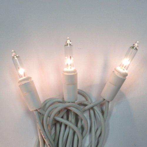 ChristmasWedding Mini Lights 100 Clear Lights White WireCord 42 feet Long