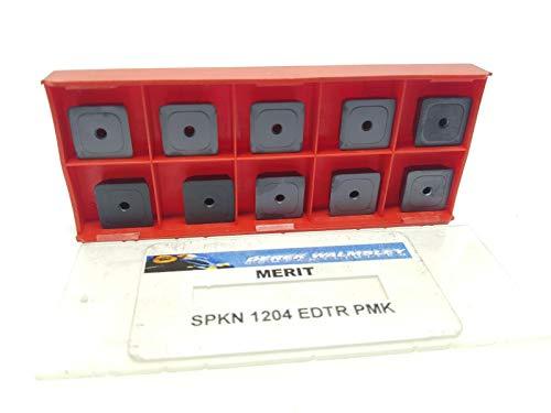 Merit Hartmetall-Einsätze SPKN 1204 EDTR Grade PMK Frässpitzen, 10 Stück