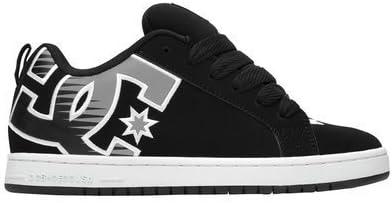 Low-Top Shoes Men 5 White Carbon//White//Black Print 5 DC Shoes Mens Shoes Court Graffik Se
