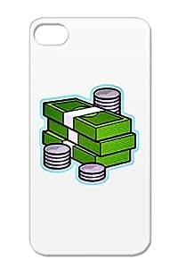 Shatterproof Green For Iphone 4 Illustration Art Design Money Protective Hard Case