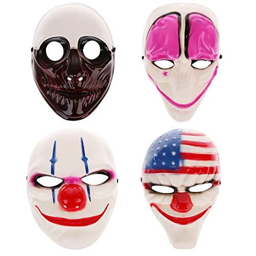 GMSP Halloween Clown Killer Masks Horror Funny Devil Full Face Mask for Masquerade. (D) ()