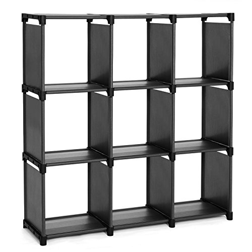 SONGMICS Storage Shelves, DIY Modular Bookshelf Toy Rack, Display Cabinet and Closet Organizer Unit