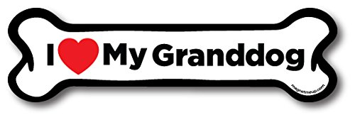 Magnet Me Up I Love My Granddog Dog Bone Car Magnet - 2x7 Dog Bone Auto Truck Decal (Dog Bone Car Magnet)