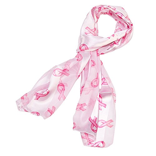 Breast Cancer Awareness Ribbons Scarf (Pink) ()