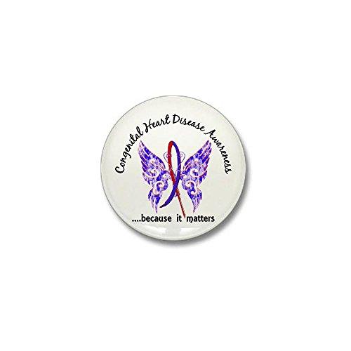 CafePress Congenital Heart Disease Butterfly 6.1 Mini Button 1