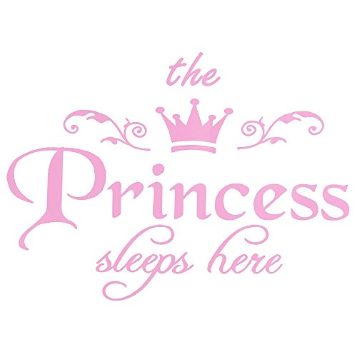 Wall Sticker, The Princess Crown Wall Decal Decor for Bedroom Nursery Home Pink