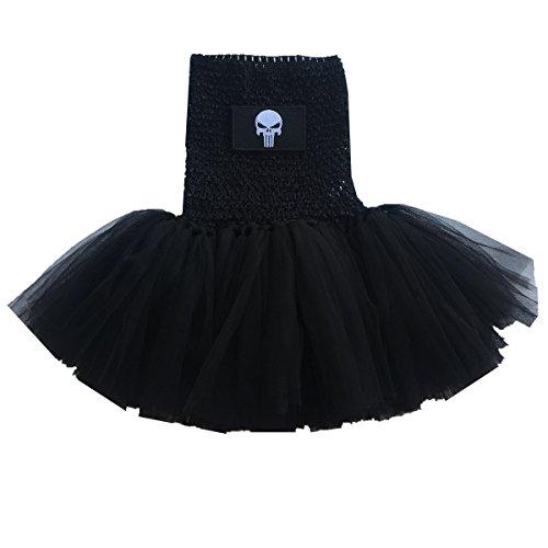 [BBVESTIDO Infant Baby Girls Superhero Tutu Dress Halloween Costume (0-2T, punisher)] (Punisher Costume Halloween)