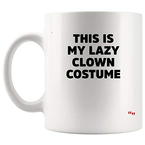 Novelty Mug Coffee Cup - This Lazy Clown Costume Funny Halloween Womens Sport Joke Gag Hilarious Sarcastic Cups Coffee Mugs]()