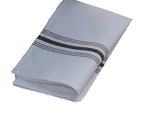 [Milliken Signature Black Stripe Bistro Napkins 1 Dozen] (Milliken Linens Supply)