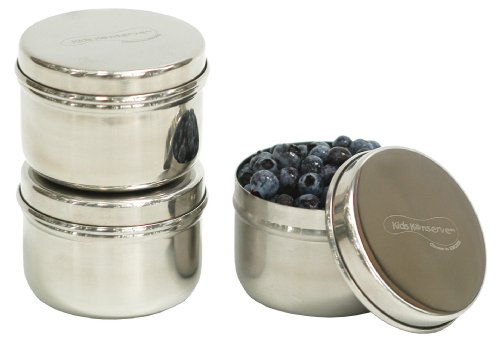 U Konserve Stainless Steel Mini Food Containers, Set of 3 (Stainless Containers Steel Snack)