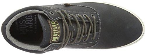 Mustang 4103-501, Zapatillas Altas para Hombre Negro (9 schwarz)