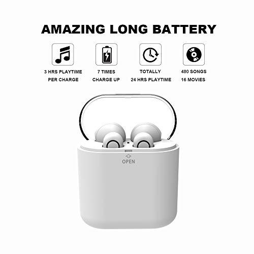 yobola Auriculares Bluetooth Inalámbrico, Bluetooth 5.0 Auriculares 24H Reproducción 3D Stereo HD Cascos Inalámbricos, Binaural Call Auto Pairing, ...