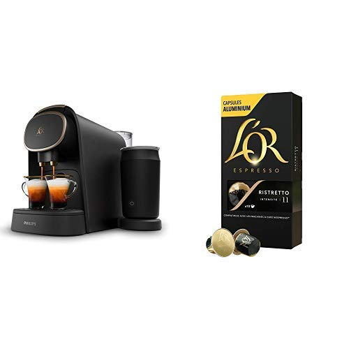 Philips LOR Barista LM8018/90 + LOr Café Ristretto 5 paquetes de 10 cápsulas