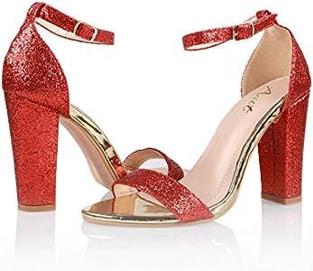 AIIT Women's Chunky High Heel Sandals