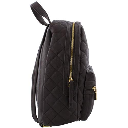 Vittadini Faux Leather Womens Adrienne Brown Quilted Backpack BRUqfq4wH