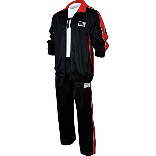 Title Boxing Poly-Pro Warm-Up Suit, Black/Red, Medium ()