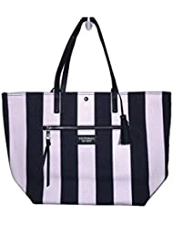 Victoria Secret Pink Stripped black/Pink Tote bag