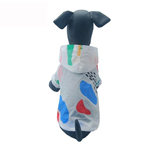 Dog Rashguard,Axchongery Summer Breathable Pet Sunscreen Puppy Hoodie T-shirt Coat (Multicolor, S) by Axchongery (Image #1)