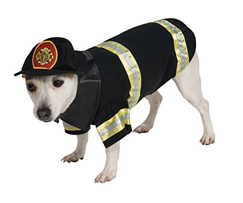 UHC Firefighter Outfit Funny Theme Fancy Dress Halloween Pet Dog Costume, S (Dog Firefighter Costume)