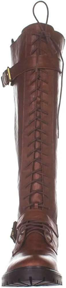 Lucky Brand Womens Inniko Leather Almond Toe Knee High Cold Weather Boots Segale