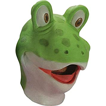 Carnival Toys Sapo de goma máscara de rana disfraz