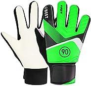 BESPORTBLE 1 Pair Pu Kids Soccer Gloves Football Goalkeeper Gloves Anti Slip Wear Resistance Sport Protective