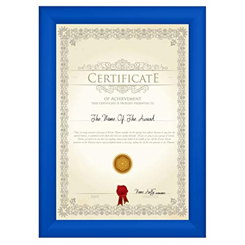 (SnapeZo Diploma Frame 8.5x11 Inches, Blue 1.2