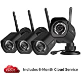meShare Security Camera System Wireless(4 Pack) -1080p Outdoor Camera Smart Home WiFi IP Camera with Night Vision, Smart Motion Alerts and Weatherproof, Works with Alexa, 6-Month Free Cloud Recording