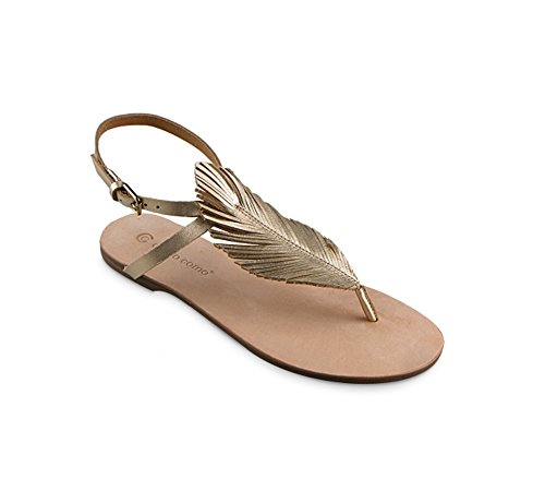 Corso Como Womens Edgar Leather Open Toe Casual Slide, Platinum, Size 6.0