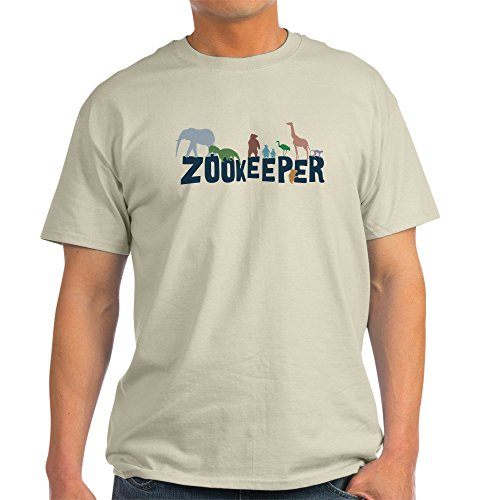 Free CafePress - Zookeeper Light T-Shirt - 100% Cotton T-Shirt, Crew Neck, Comfortable and Soft Classic Tee with Unique Design